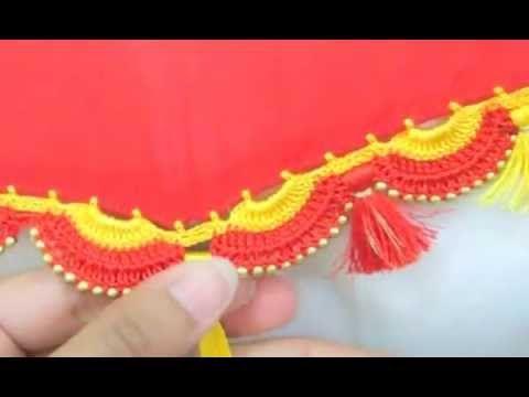 How to do saree kuchu or tassel with silk thread !! - YouTube