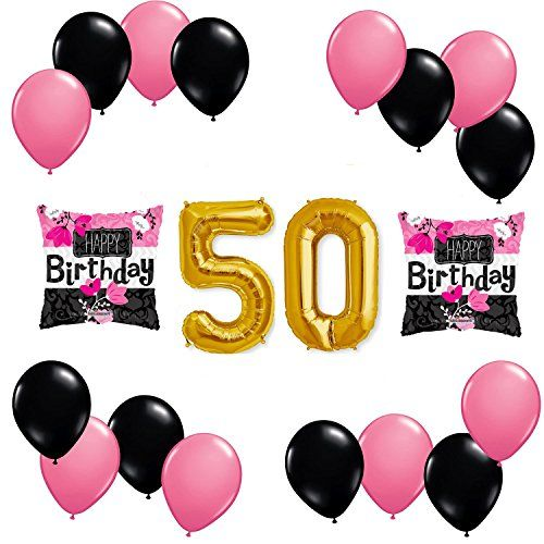 Happy 50th Birthday Balloon Decoration Kit *** Find Out