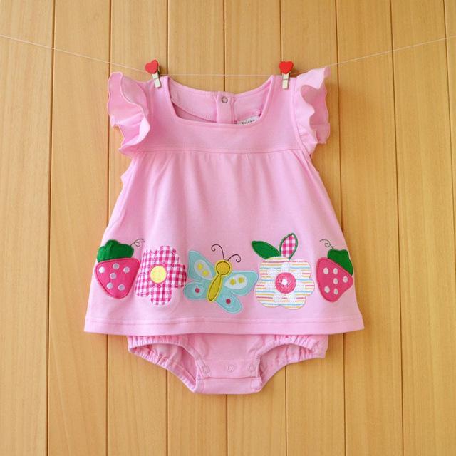 1eefcd458 Baby Girl Rompers Summer Girls Clothing Sets Flower Newborn Baby ...
