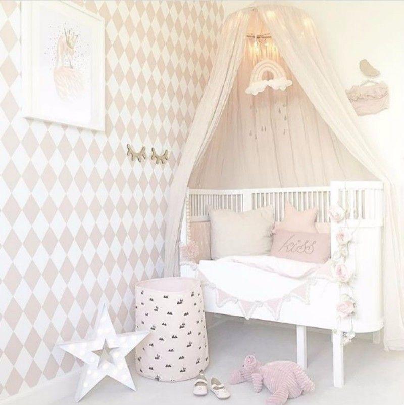 SEBRA Kili Bed White + NUMERO 74 Canopy Powder  sc 1 st  Pinterest & SEBRA Kili Bed White + NUMERO 74 Canopy Powder | Kids Bedroom ...