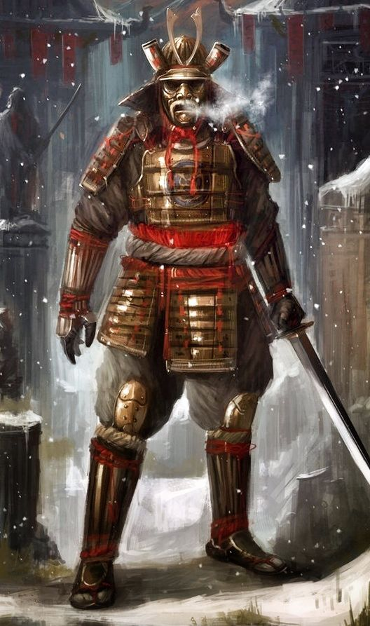 Samurai, the eastern equivalent of the western knight. Their loyalty to their emperor was just as great or even greater than their skill with the sword. Amazing swordsmen with blades of incredible workmanship.