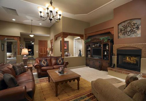 Rustic Western Wall Color Ideas | Don T Go Too Far As To Hang Animal  Trophies · Living Room ...