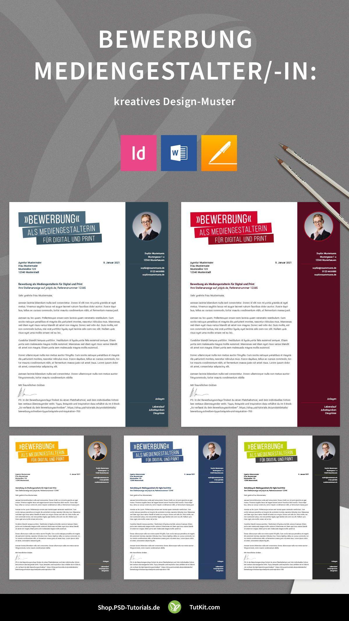 Bewerbung Mediengestalter In Kreatives Design Muster In 2020 Bewerbung Lebenslauf Kreatives Design Vorlage Deckblatt Bewerbung