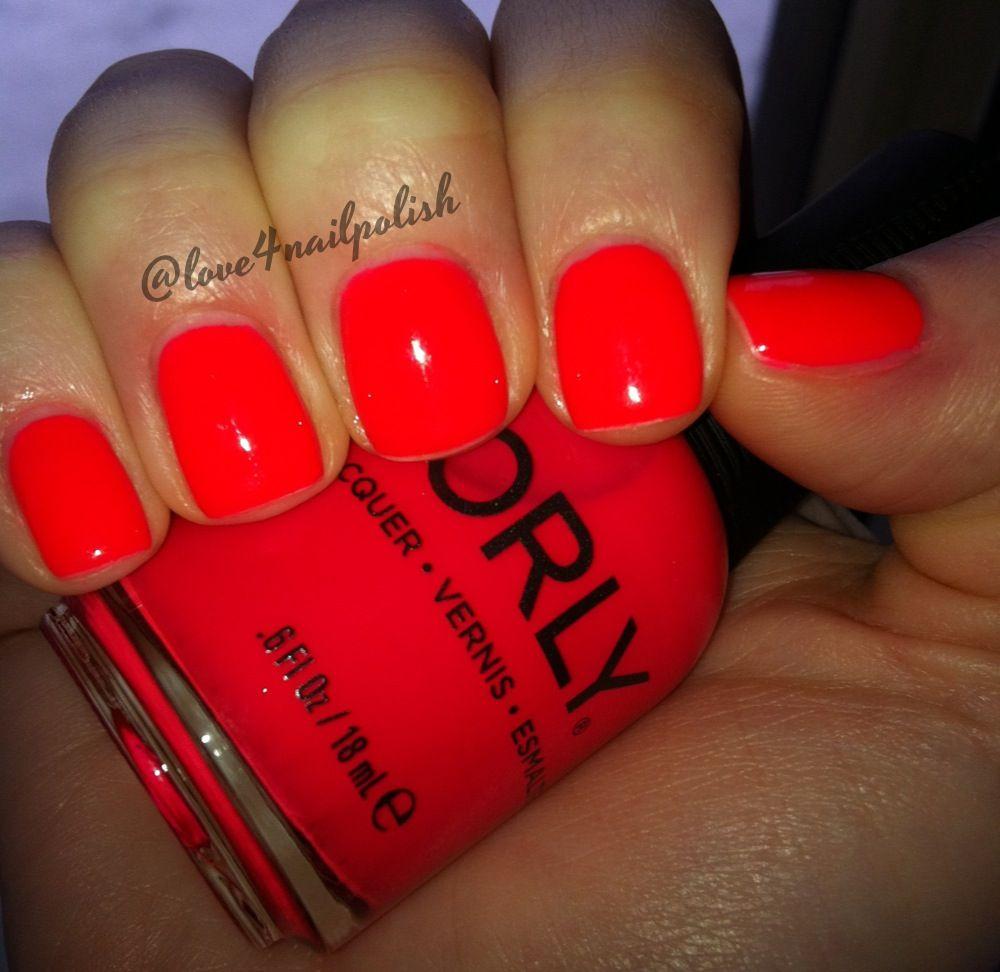 Neon Nails Orly Red Hot Instagram Lovee Nailpolishandmore