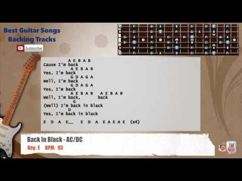 Back In Black - AC/DC Guitar Backing Track with vocal, chords and ...