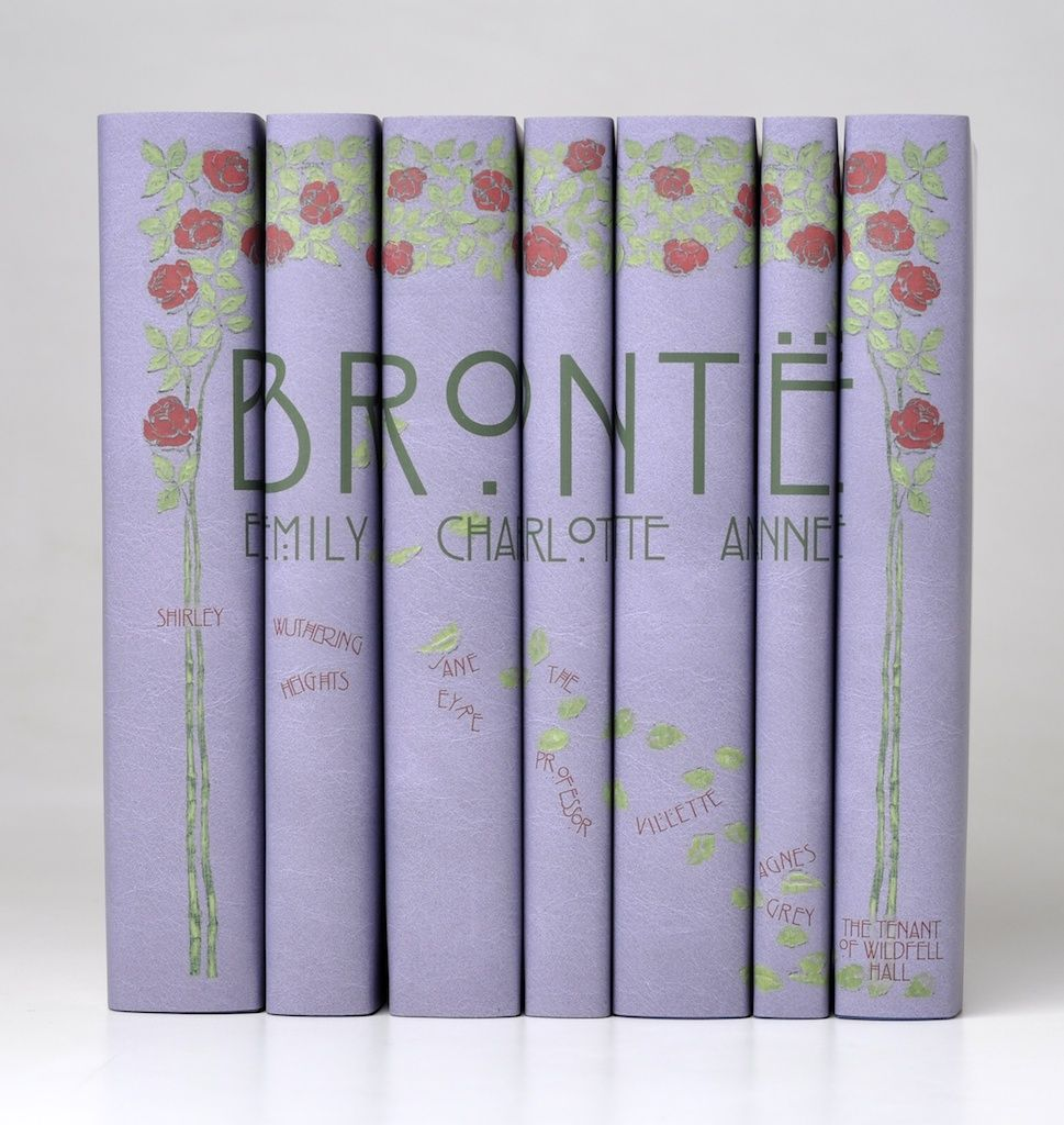 Brontë Sisters' novels and Rennie Mackintosh style covers. Pretty brilliant.