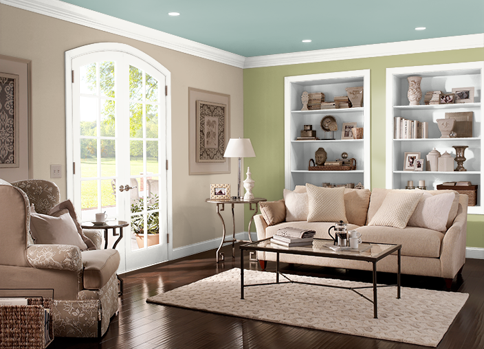 This Is The Project I Created On Behr Com I Used These Colors Sap Green M350 3 Fresh Artichoke M340 5 Green Meets Blue S430 4 Es Paint Colors For Living Room Hallway Paint Colors Behr Paint Colors