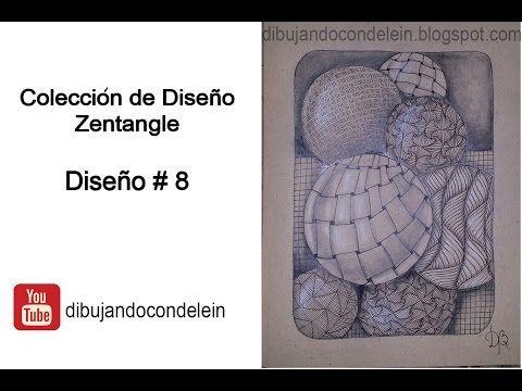 dibujando con delein: Como Dibujar Diseño Zentangle # 8