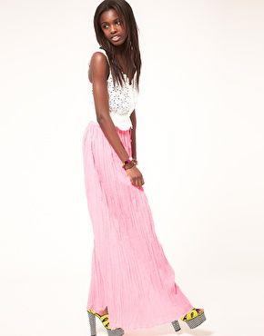 Enlarge ASOS Maxi Skirt in Crinkle