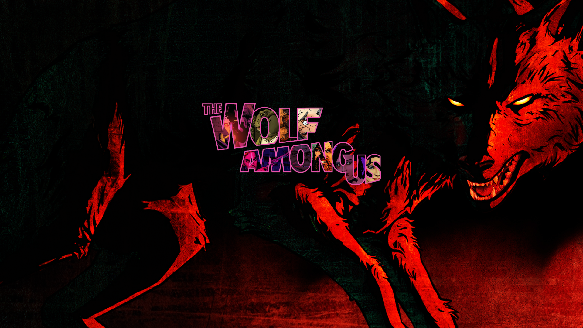 The Wolf Among Us The wolf among us, Neon signs, Neon