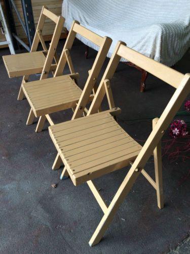 job lot folding chairs lawn walmart vintage nude beige painted wooden x3 dark