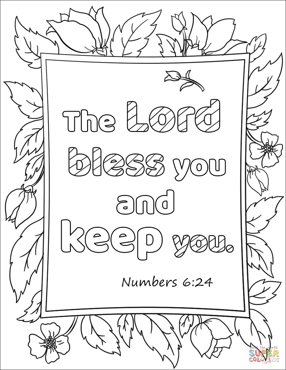The Lord Bless You And Keep You Super Coloring Free Printable Coloring Pages Printable Coloring Pages Coloring Pages