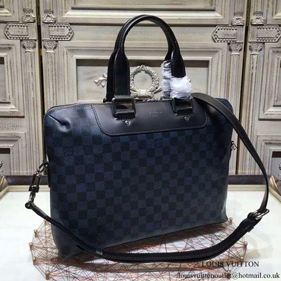 5ab1e1c067d21 Louis Vuitton N42241 Porte-Documents Jour Briefcase Damier Cobalt Canvas