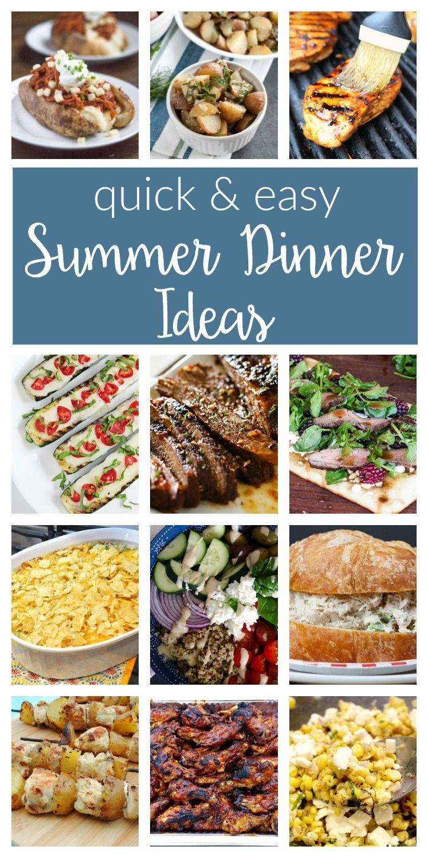 Easy Summer Dinner Ideas Merry Monday 156 Two Purple Couches Easy Summer Meals Easy Summer Recipes Dinner Summer Dinner