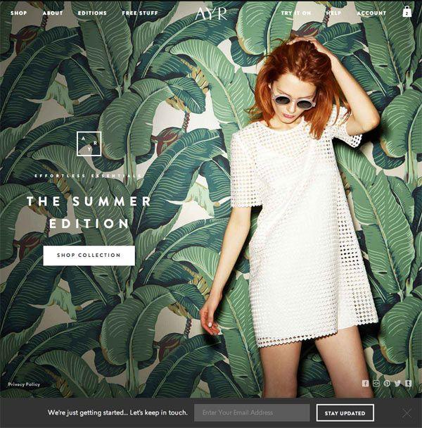 #fashion #AYR #tees #denim #ecommerce #webdesign