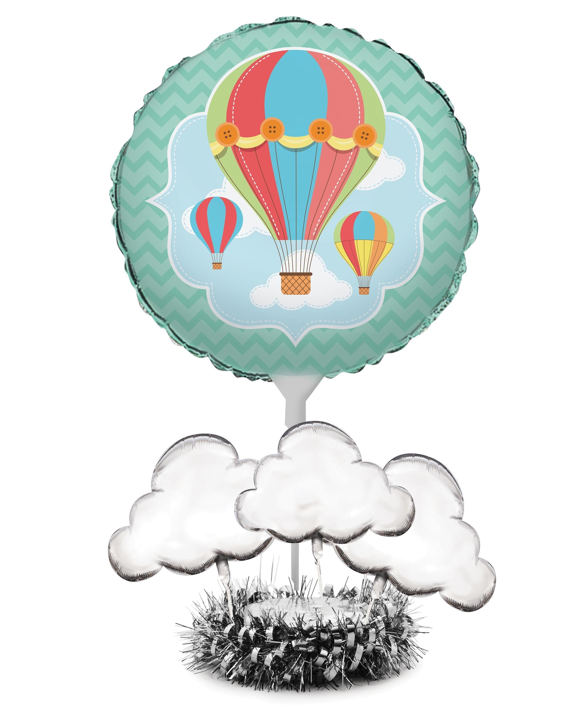 (4/case) Up, Up, & Away Air Filled Balloon Centerpiece Kit