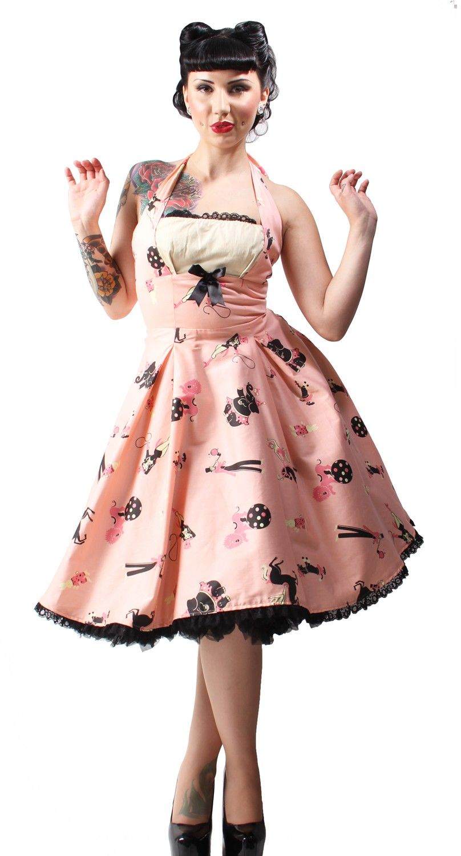 Circus Print Ginger Dress pin up girl clothing | Rocka billy wear ...