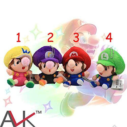 Baby Mario Plush Toy 14 Cm Mario Waluigi Luigi Wario Plush 1 Pcs
