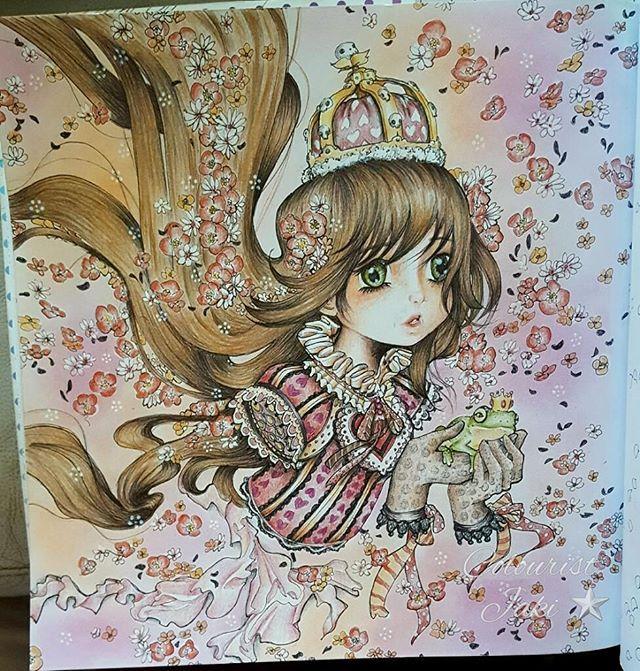 Pop manga coloring book by camilla derrico popmanga popmangacoloringbook adultcolouring