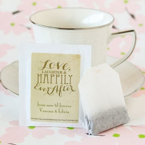 Personalized Wedding Tea Bag Favor Weddingfavorsbytheme