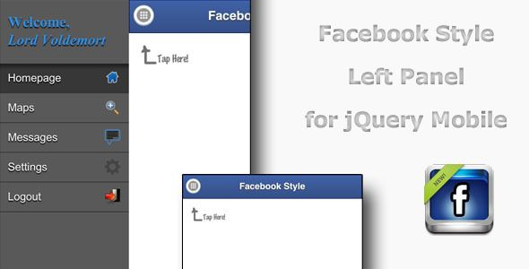 cool jQuery Facebook Side Menu Plugin | Writing | Mobile project
