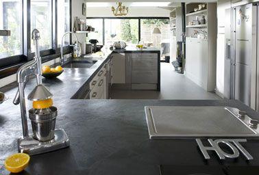refaire plan de travail cuisine avec bton cir mercadier - Beton Cire Sur Carrelage Plan De Travail Cuisine