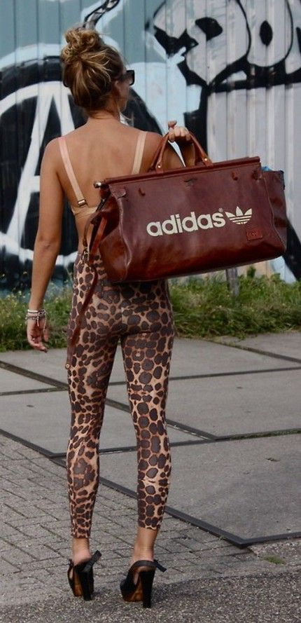 Sexy celebrity hot orange leopard leggings animal print tights pants made in us