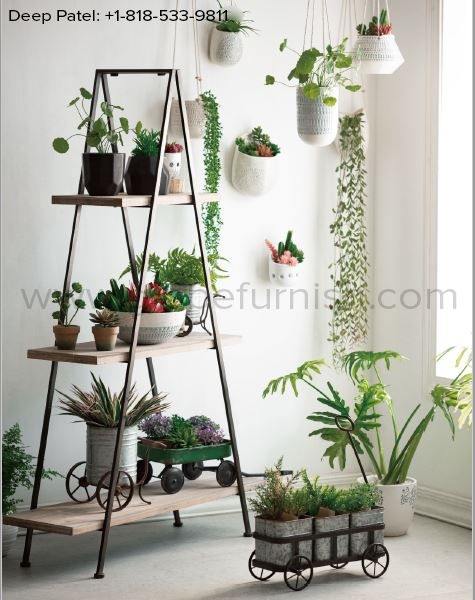 Design Your Own Living Room Free: Make Your Own Indoor Garden By Having This 3 Stepped Wood