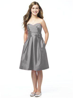 8bd5b33fd8f Alfred Sung Junior Bridesmaid style JR504 http   www.dessy.com dresses  junior-bridesmaid jr504  Love this for Audrey