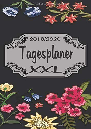 Tagesplaner XXL 20192020 DIN A4 Kalender von 092019  082020 1 Tag  1 Seite mit großem Tagesplaner und großartiger Übersicht Monats...