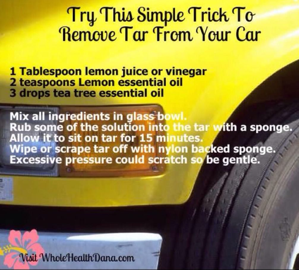 Check out this great chemicalfree way to remove tar from