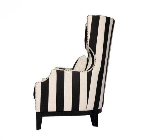 black and white wing chairs found on wing chairs pinterest wing chairs wings and black and white - Black And White Striped Chair
