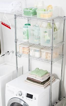 Shelving Unit Over Washer Dryer Google Search Washer And Dryer Laundry Shelves Shelves