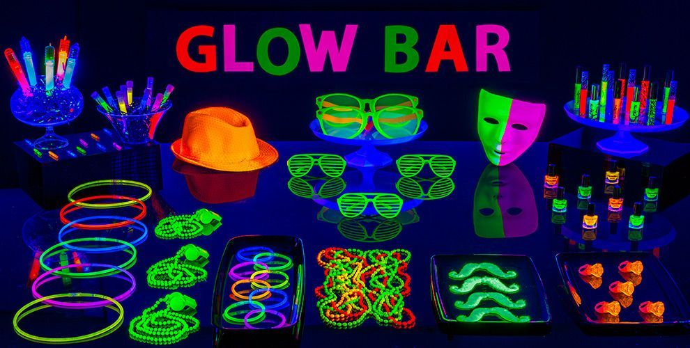 Black Light Party Supplies - Glow in the Dark Party Ideas- Party