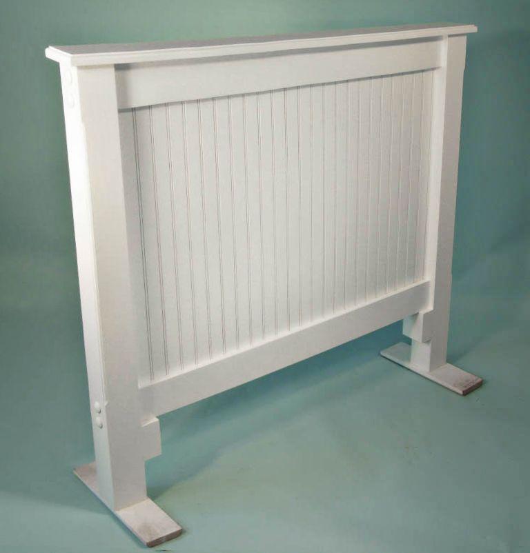 Beadboard Headboard Cottage Standard Twin Panels Side View