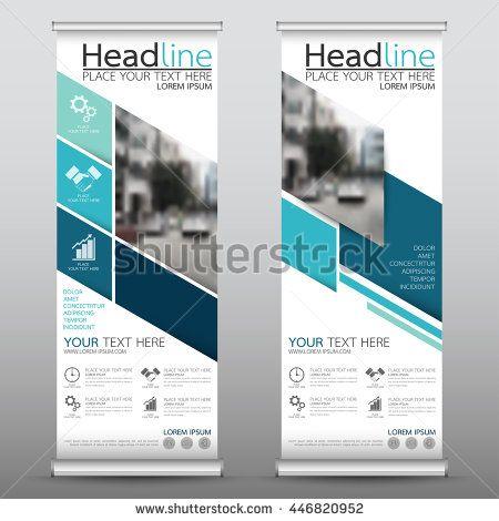 Blue Roll Up Business Brochure Flyer Banner Design Vertical