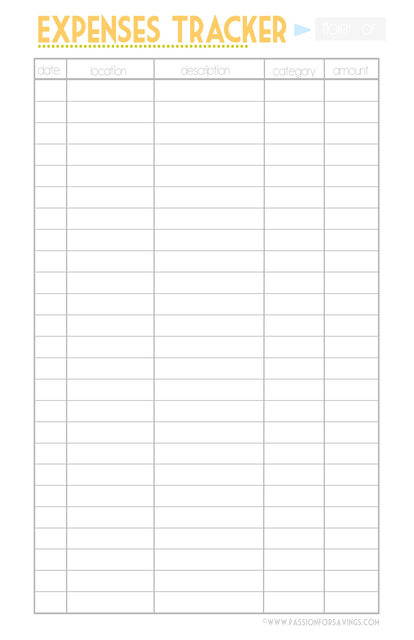 Budget Printable With Images Budget Printables Expense