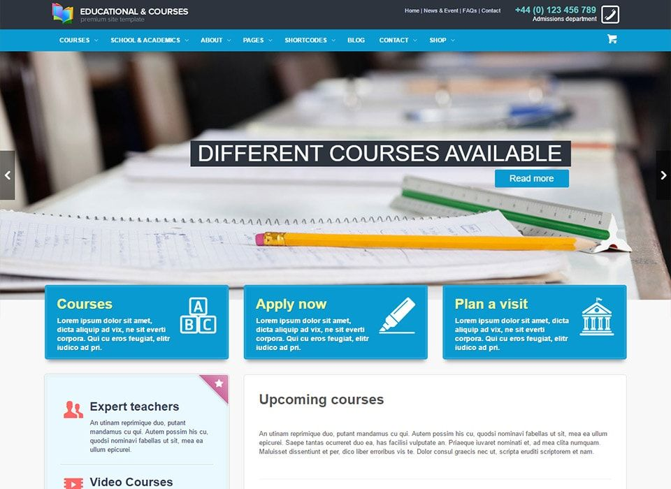 15 Best Education WordPress themes for Schools, Universities