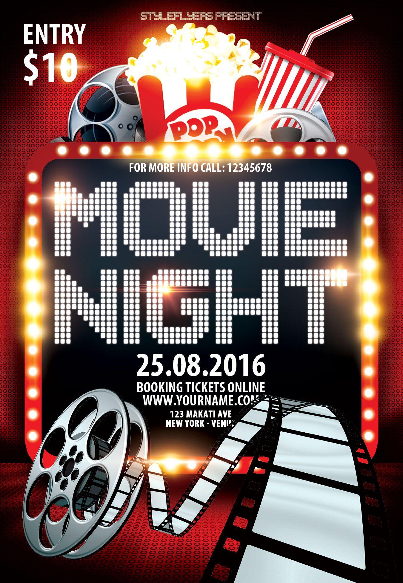 Movie Night Psd Flyer Template Psd Flyer Templates Flyer