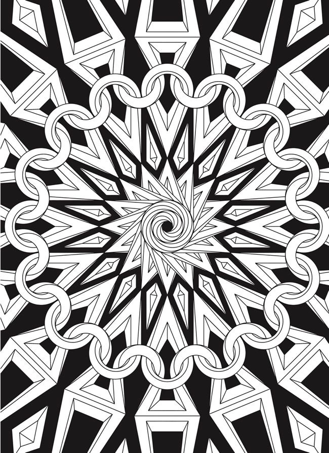 Creative Haven Infinite Illusions Coloring Book Eye Popping Designs