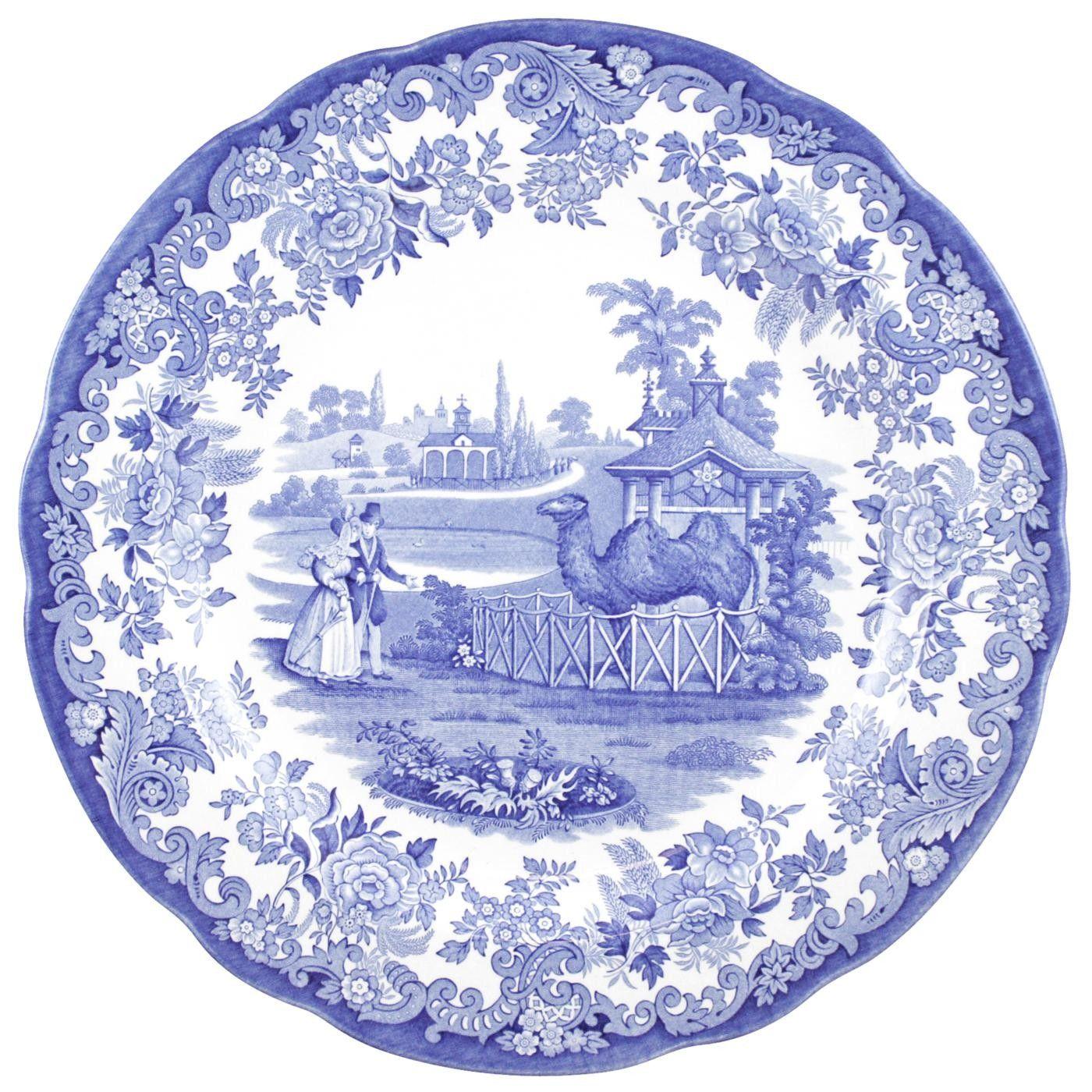 Spode Dresser Plate - The Camel Enclosure - Blue Room - Spode UK  sc 1 st  Pinterest & Spode Dresser Plate - The Camel Enclosure - Blue Room - Spode UK ...
