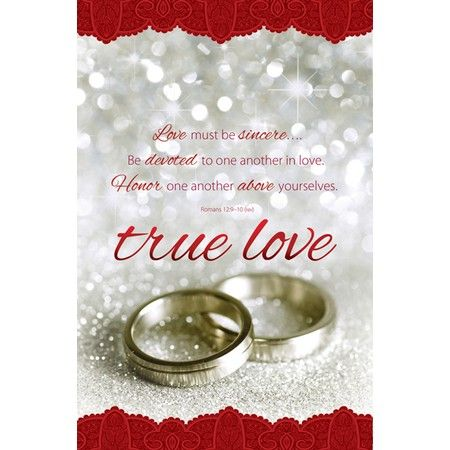 Bible Verse Wedding Program