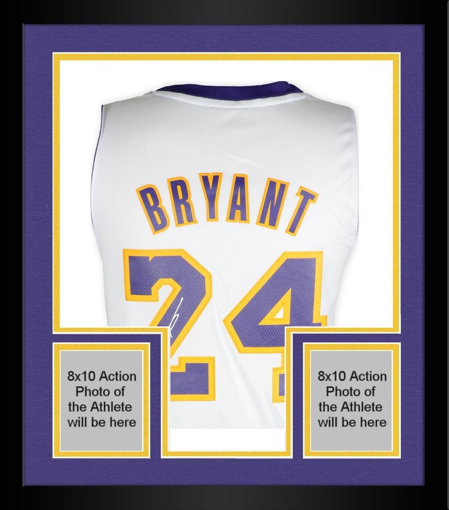 6896ad1d604 Framed Kobe Bryant Los Angeles Lakers Signed White Authentic Jersey - Panini   sportsmemorabilia  autograph  basketballjersey