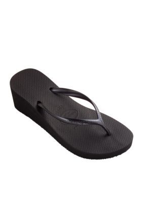 d1f3c6064c7261 Havaianas Women s High Fashion Wedge Flip Flop - Black - 6N ...