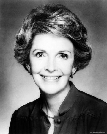 "Nancy Davis Reagan was First Lady from 1981 to 1989. Nancy worked with numerous charitable groups and youth drug prevention. She held fast to her belief in love,honesty and selflessness.""The ideals have endured because they are right and no less right today than yesterday."""