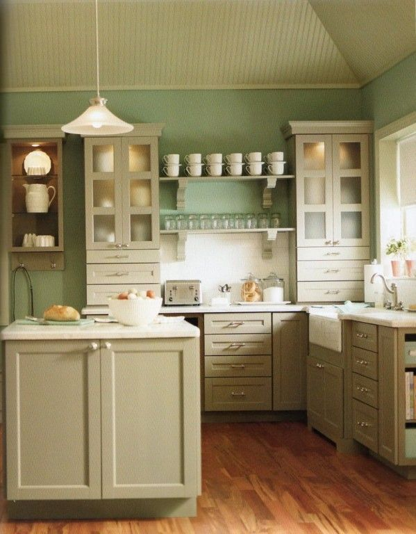 Antique White Country Kitchen color combination - country kitchens with white cabinets - i don't