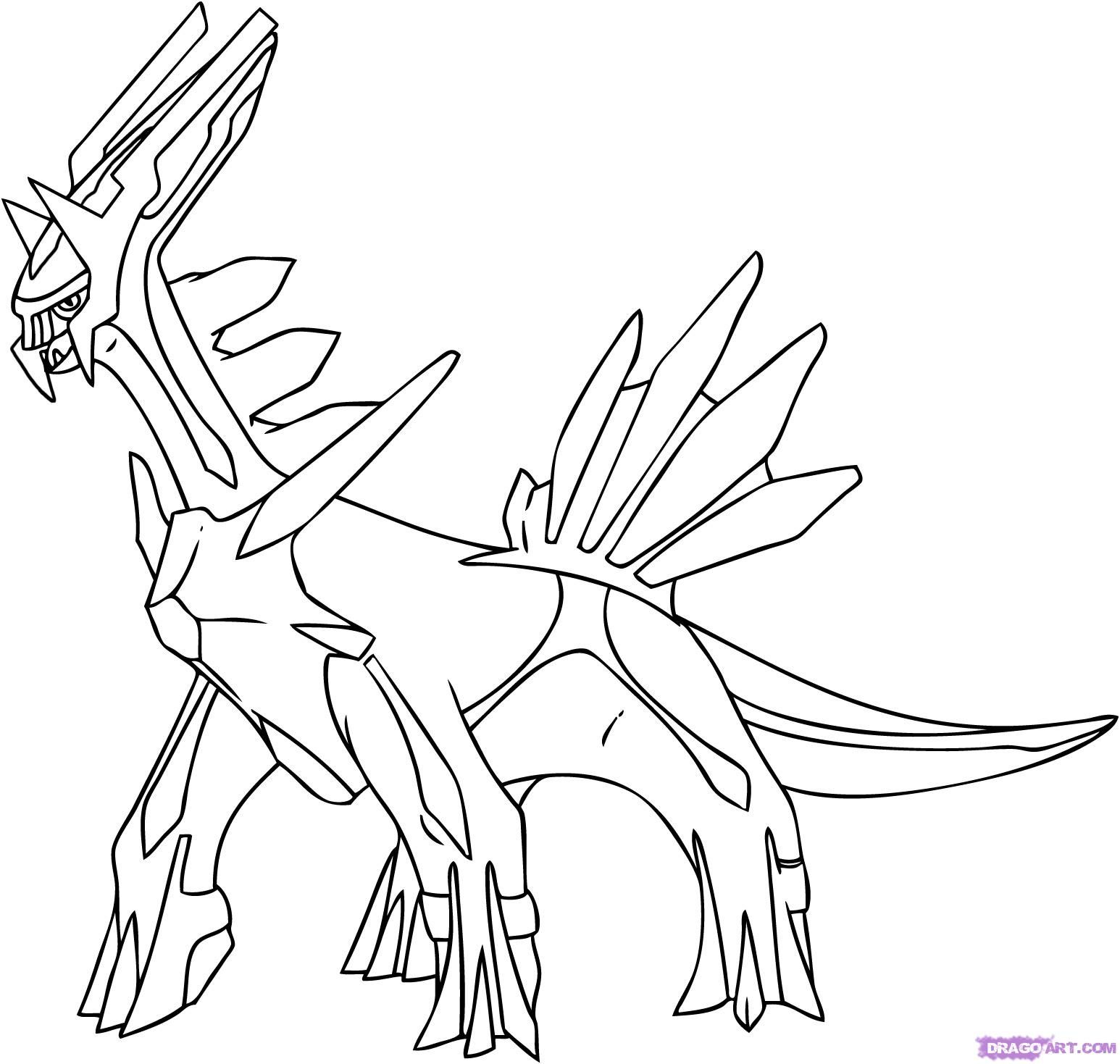 Dialga Coloring Pages Collection Pokemon Coloring Pages Pokemon