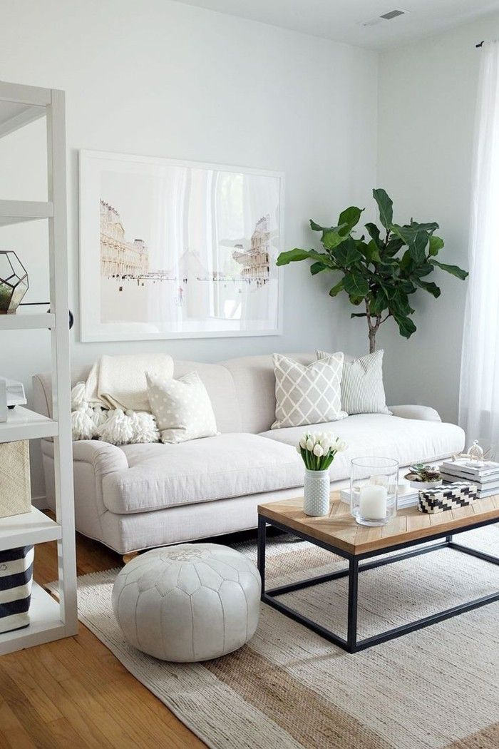 White Wall Paint Home Ideas Living Room Carpet Retro Look Plant Small Living Room Decor Living Room Scandinavian Scandinavian Design Living Room