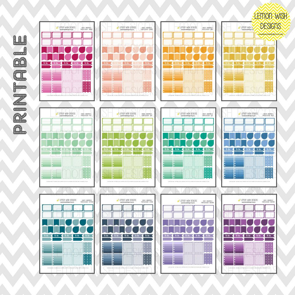 Design 1 Horizontal Annual Bundle Pack by LemonWishDesigns