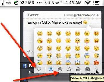 How To Use Emoji In Mac Os X Mavericks Make Tech Easier Emoji Mac Os Apple Notebook